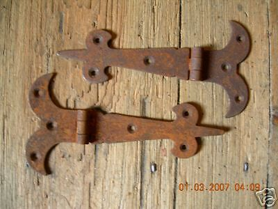 "One Pair of 5 1 2"" Rustic Gothic T Hinges | eBay"