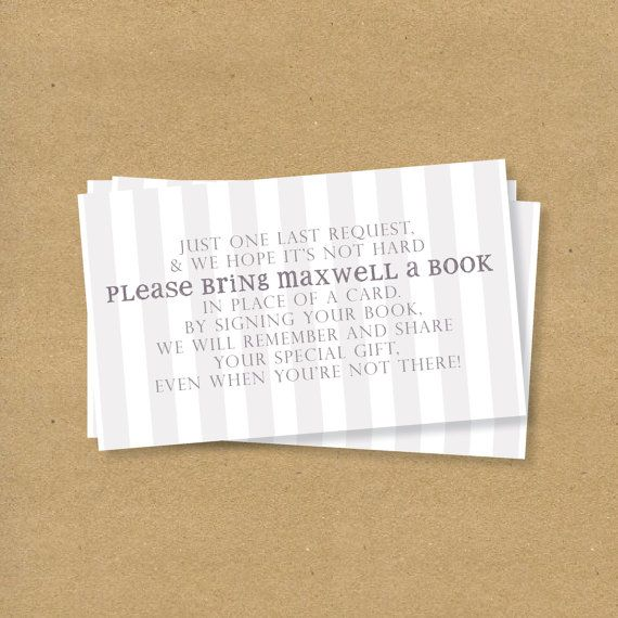 Cute Way To Request Books In Lieu Of Cards (which Is The Greatest Baby  Shower