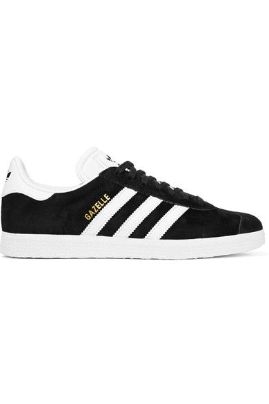 ADIDAS ORIGINALS Gazelle Suede And Leather Sneakers. #adidasoriginals #shoes #sneakers