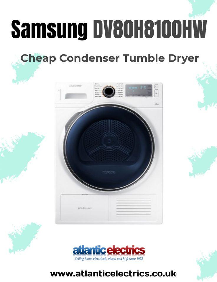 Samsung DV80H8100HW | Cheap Condenser Tumble Dryer in UK at Atlantic Electrics #CheapCondenserDryer #TumbleDryer #samsung #homeappliances