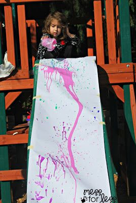 Slide painting - using gravity to make art