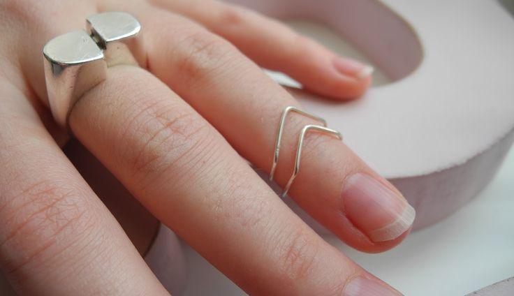 Mélimélo: Chevron Knuckle Ring