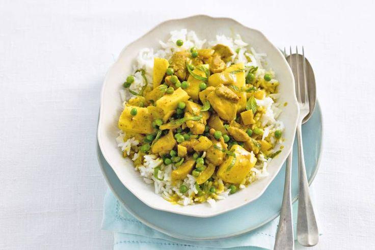 Kijk wat een lekker recept ik heb gevonden op Allerhande! Kip in curry-kokossaus
