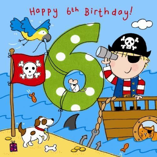 happy 6th birthday images for a boy