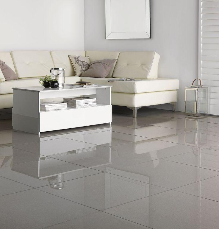 Polished Porcelain Grey Wall Tile 60 X 60cm Living