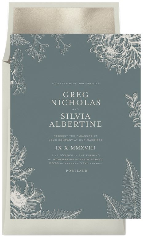 Letterpress Botanical by Signature Greenvelope @Greenvelope