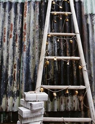 Ladder as christmas tree. / #DIY