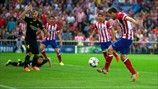 Koke marcó el gol del Atlético en el partido de vuelta de los cuartos de final de la UEFA Champions League contra el Barcelona