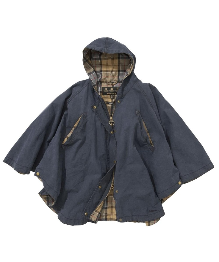 Womens Barbour Waxed Vintage Cape Jacket Navy Women 180 S