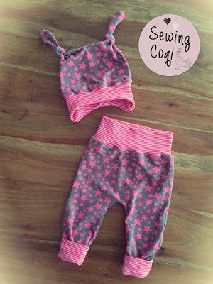 Schnittmuster Babyhose Cozy Pants von Kid5 - Mütze Icy Mini Mop von aefflynS Freebook -   Nähen - Baby - Newborn - Sewing - Pattern - Neugeborene - Babyoutfit - Outfit - Kliniktasche - Babyhose - Babymütze