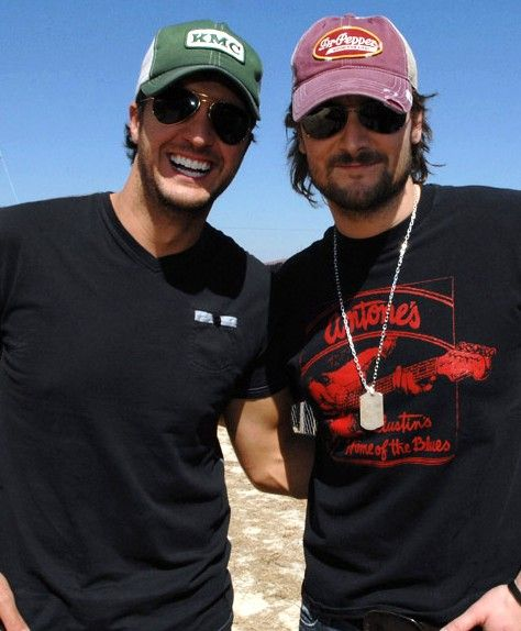 *__* How do I even react to this? Luke Bryan AND Eric Church?! If Jason Aldean were in this, I don't think I'd be conscious.