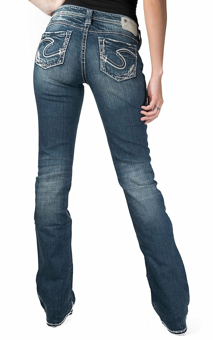Silver Jeans 174 Women S Dark Wash Aiko Mid Rise Boot Cut