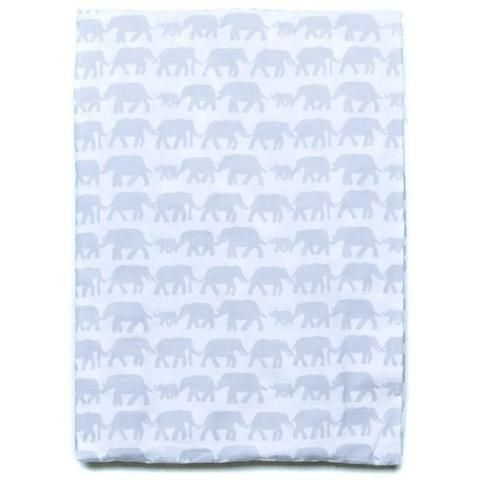 Baby Bassinet Sheet - The Road to Nowhere Elephants 100% Cotton for sensitive skin and eczema babies. Siesta Home - baby luno