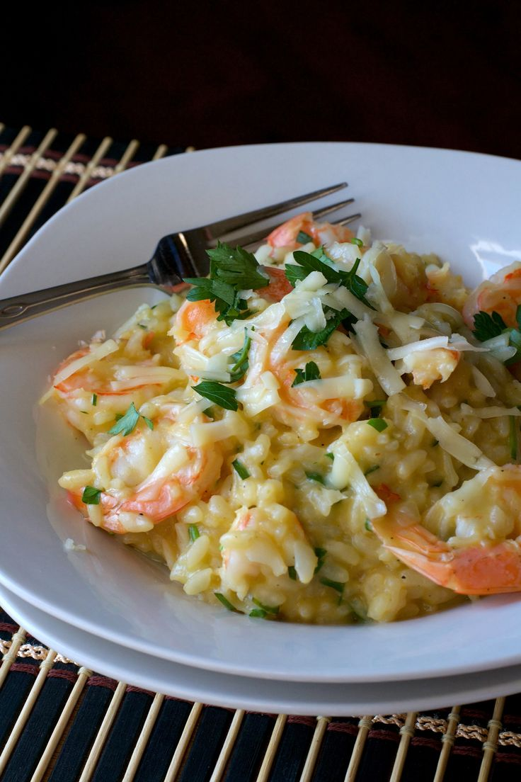 Asiago Shrimp Risotto 2- 20 min in a pressure cooker!