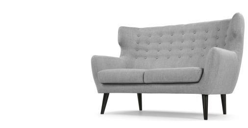 Kubrick 2-Sitzer-Sofa, Perlgrau