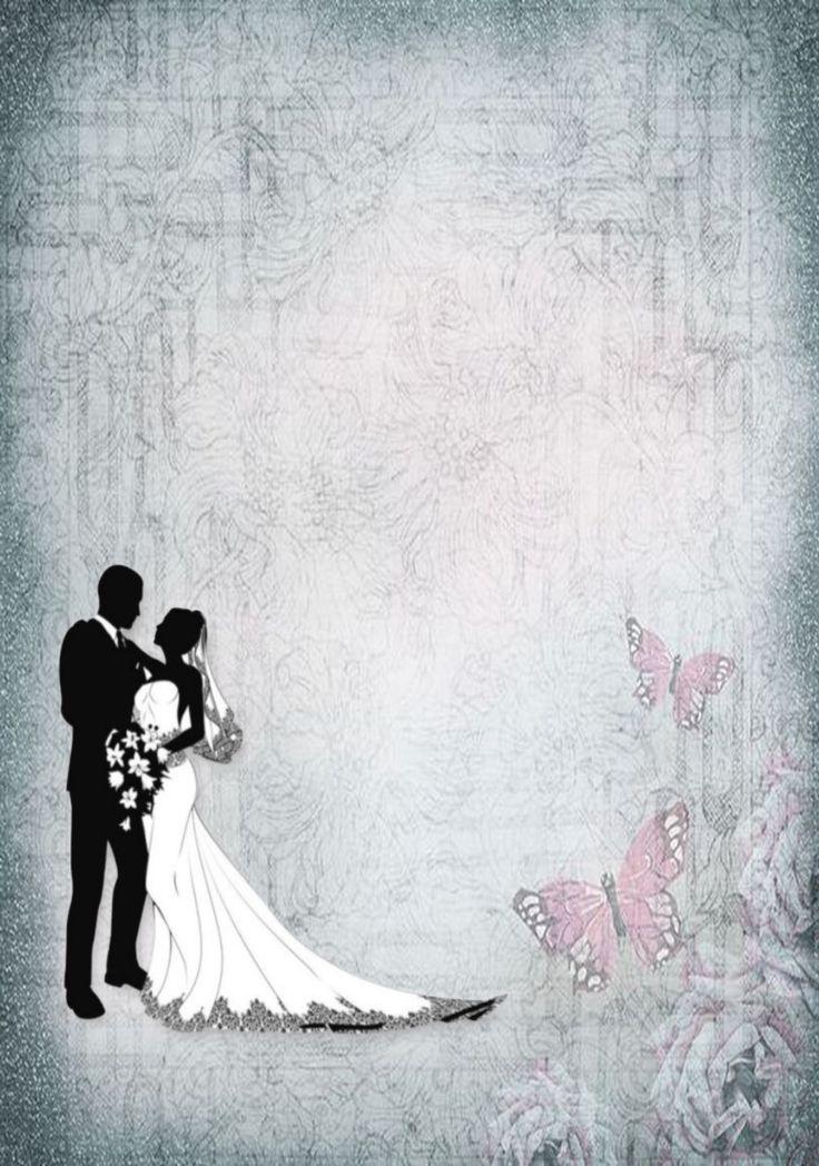 Свадебные картинки формата а4, открыток