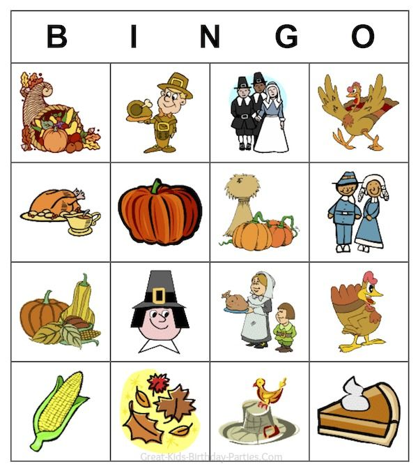 Free Thanksgiving Printable Game Customize Your Own