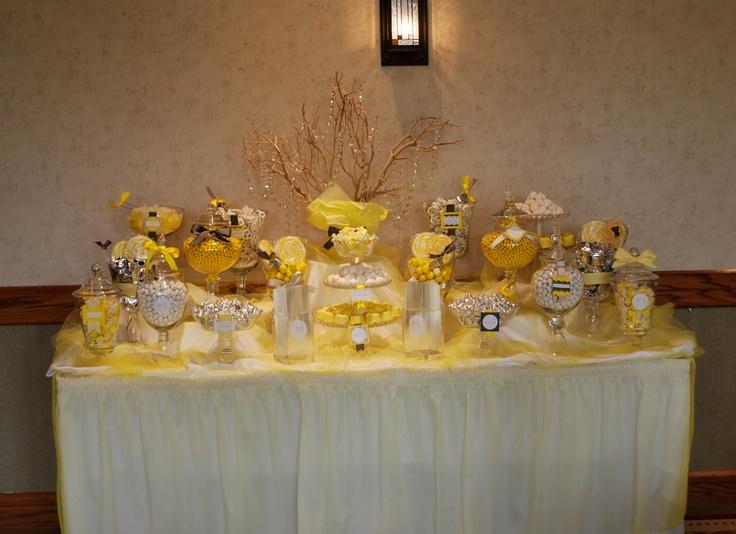 Yellow Candy Bar Wedding Candy Amp Sweet Bar Pinterest