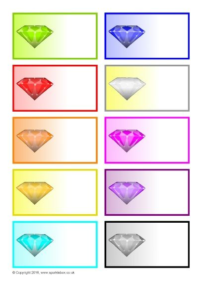Jewel/Precious Stone-Themed Editable Peg Labels (SB11615) - SparkleBox