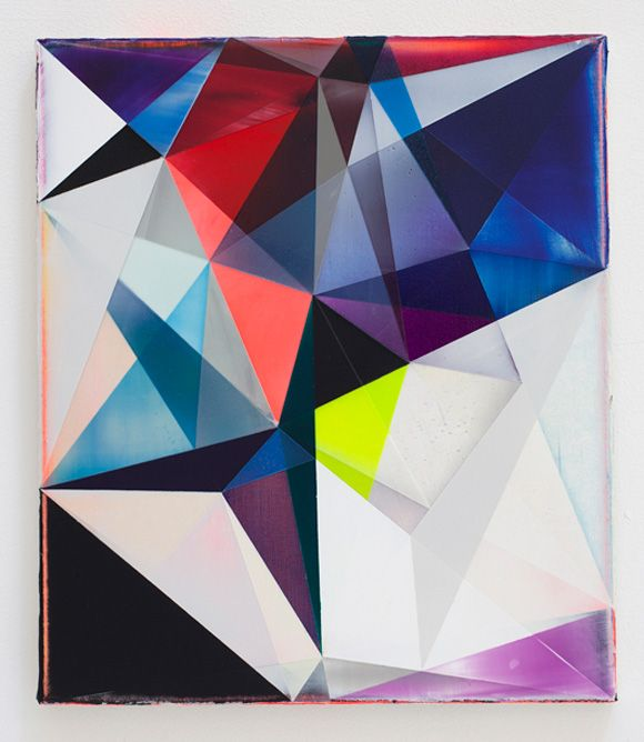 Geometric abstract painting by Shannon Finley