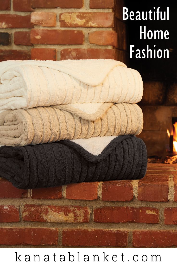 Warm and cozy like your favorite cable knit sweater, this throw comes in a beautiful knit pattern on one side and soft, faux lambswool lining on the other. For more follow us @kanatablanket