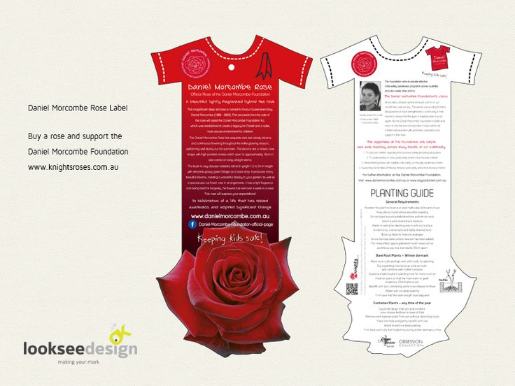Daniel Morcombe Rose Packaging Label - Designed by Looksee Design