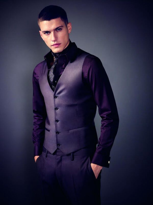 dark purple suit mens - Google Search