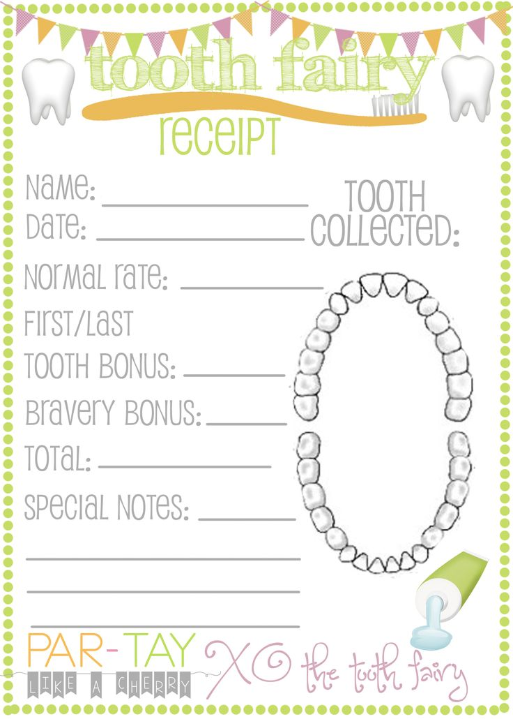 23 best health images on Pinterest Kid activities, Tooth fairy - expense receipt template