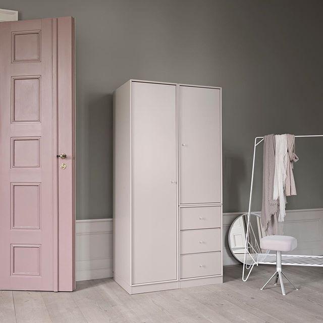 Making room for personality – Montana Wardrobe. #montanafurniture #danishdesign #madeindenmark #wardrobe #pastels #homedecor