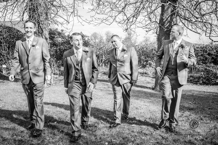 The groomsmen at Cumberwell Golf Club