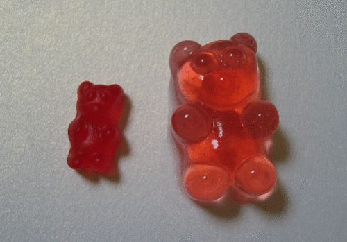 Vodka soaked gummy bears. Easier and cuter than jello shots. This is definitely on my list of things to try!