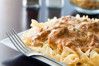 Beef Stroganoff and Noodles - The Power of Forever Photography/ E+/Getty Images