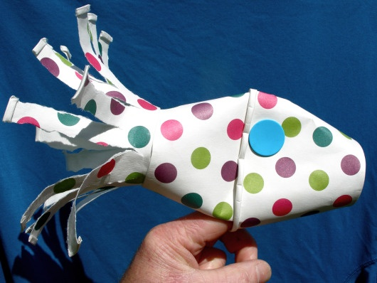 paper cup fish craft puppet