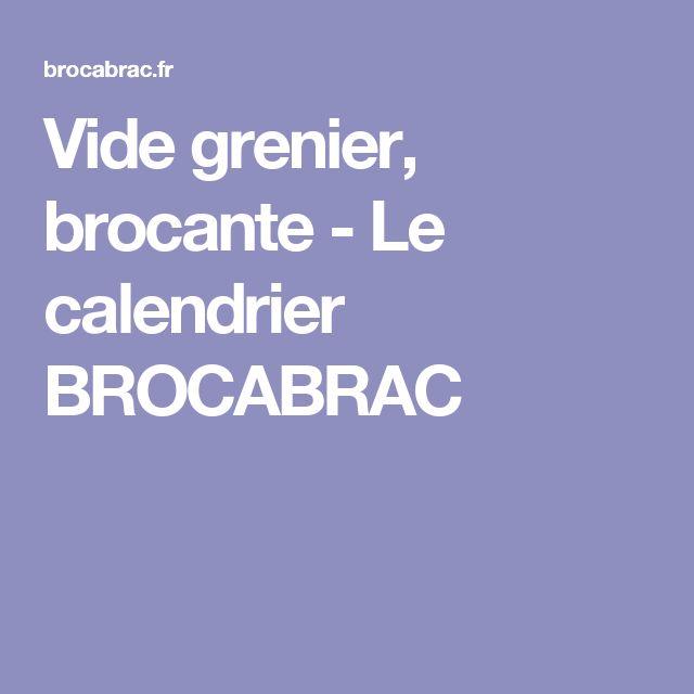 Vide grenier, brocante - Le calendrier BROCABRAC