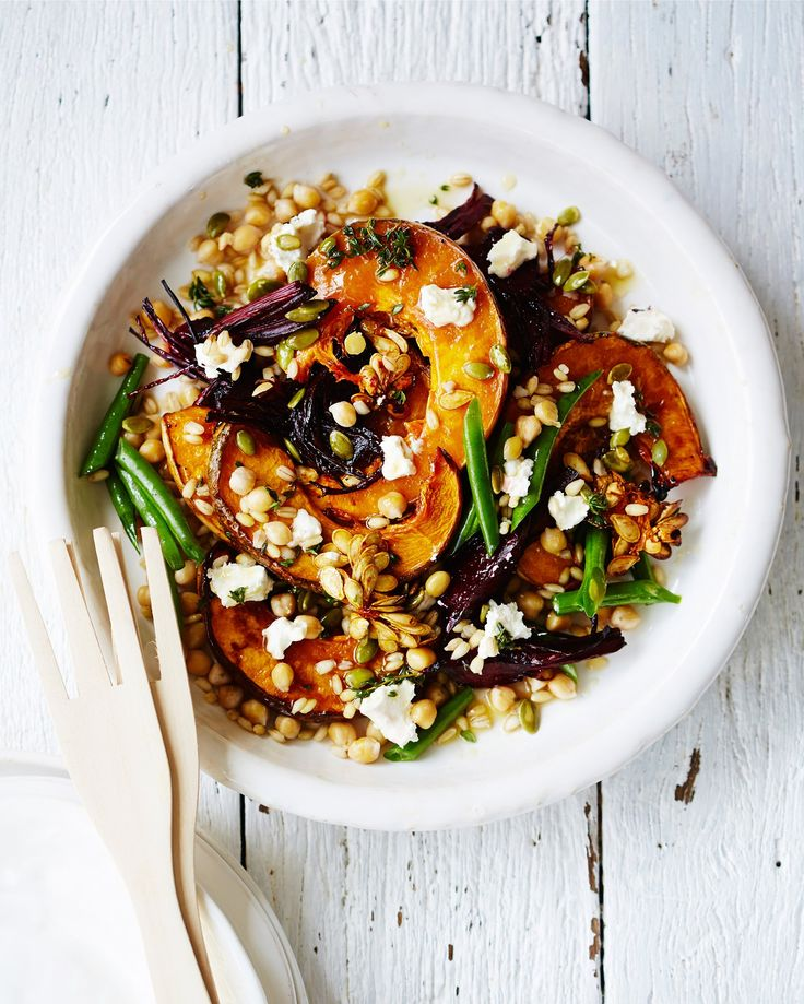 Roasted Pumpkin, Beet, Chickpea, and Barley Salad // A Protein-Packed Salad That Does Double Duty as a Side Dish