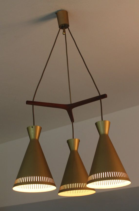 Mid Century Danish Modern Chandelier Ceiling Light by ANTICLOPEDIA