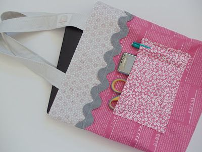 My Cotton Creations: Library Tote Bag Tutorial