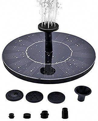 Amazon com : Solar Birdbath Fountain, Supmovo Solar Fountain for