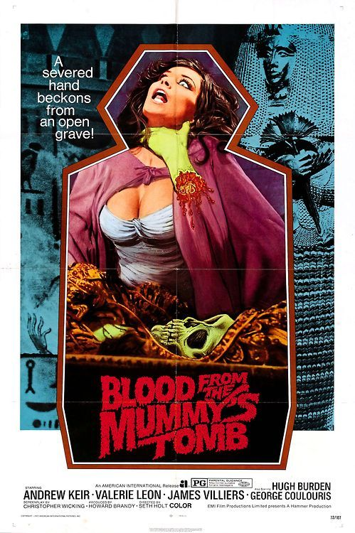 Poster for Blood from the Mummy's Tomb (1971), a great latter-day Hammer mummy movie