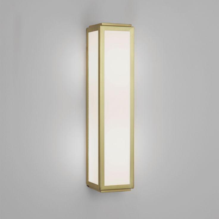 Astro lighting mashiko 360 classic 2 light bathroom wall fitting in matt gold finish with glass dimmable lighting type from castlegate lights uk