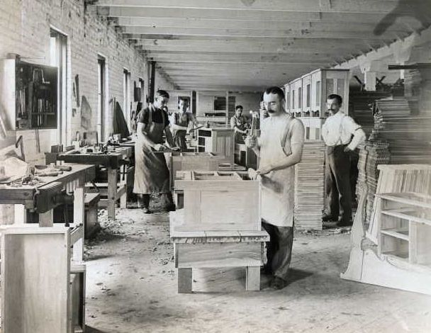 Furniture final assembly circa 1890's