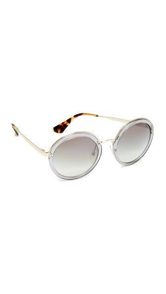 PRADA Transparent Round Sunglasses. #prada #sunglasses