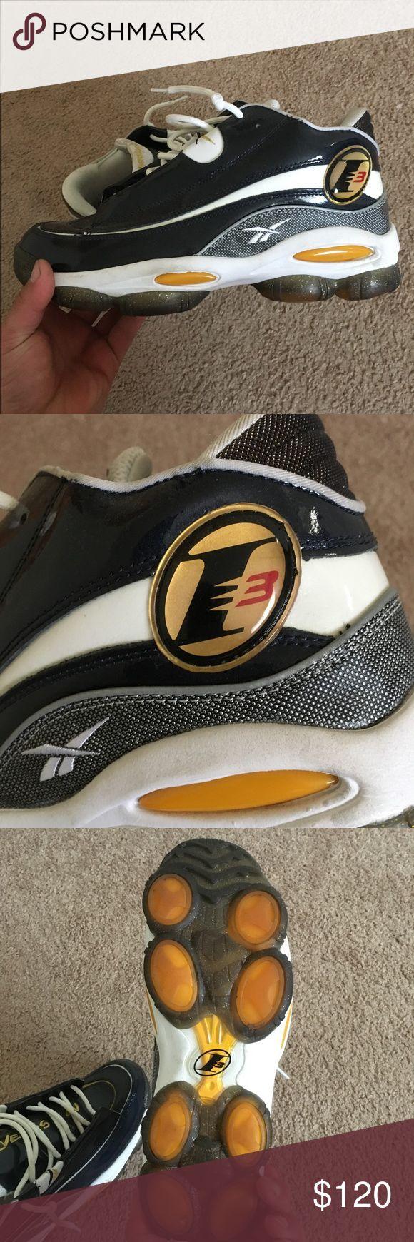 Reebok The Answer DMX 10 Allen Iverson I3 Sz 9.5 Navy (Patent Leather) *No Box* Reebok Shoes Athletic Shoes