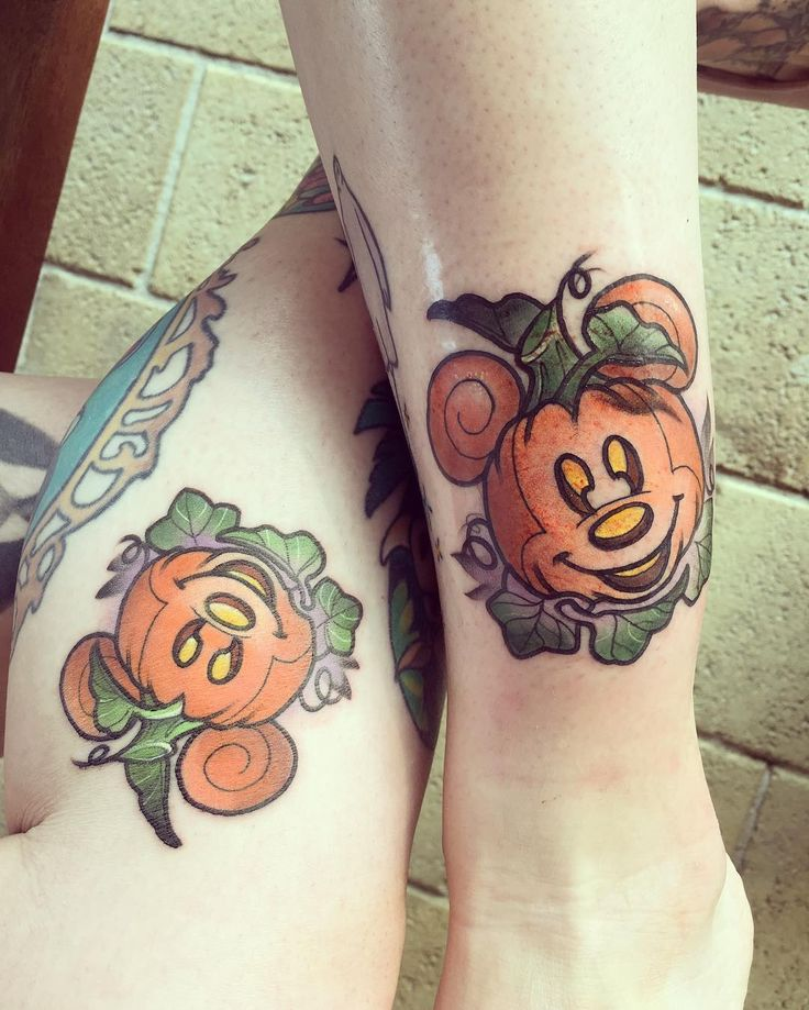 Matching  with my Disney wife @alouisee done by the super mega babe @carlybaggins #disneytattoo #halloween