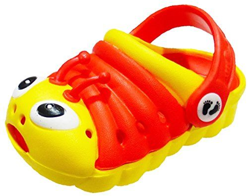 Clogstrom Kids Sandals Toddler Girls and Boys Shoes Caterpillar Clogs (4, Yellow/Red) Clogstrom http://www.amazon.com/dp/B00MJSFZB0/ref=cm_sw_r_pi_dp_JCfgvb1E1XFTB