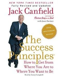 The Success Principles:  http://www.learnhowtobuildselfesteem.com/The-Success-Principles-by-Jack-Canfield   (by Jack Canfield) Is an Audio book about building your self esteem so you can achieve your own dreams with a simple set of rules for success.  Learn to Invest in developing your knowledge and core skills, Face up to what is not working and Focus on your unique abilities.