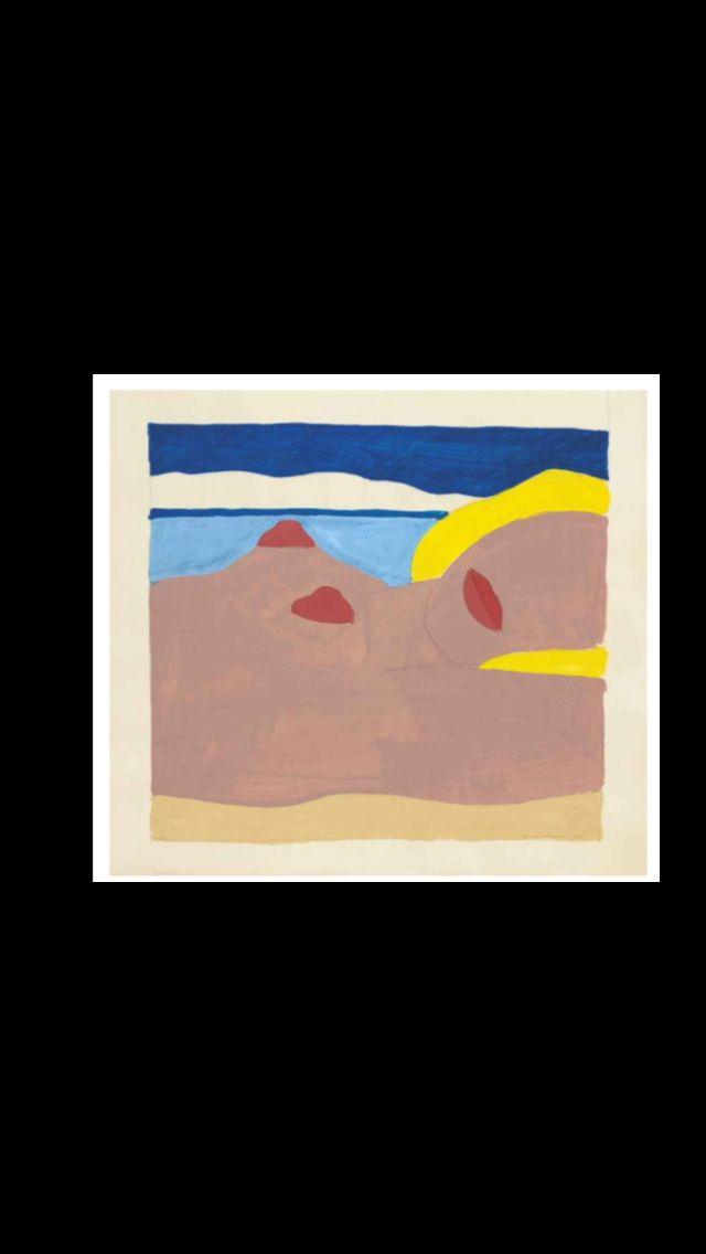 """Tom Wesselmann - """"Study for Great American Nude # 66"""", 1965 - Graphite and liquitex on paper - 40 x 43,8 cm"""