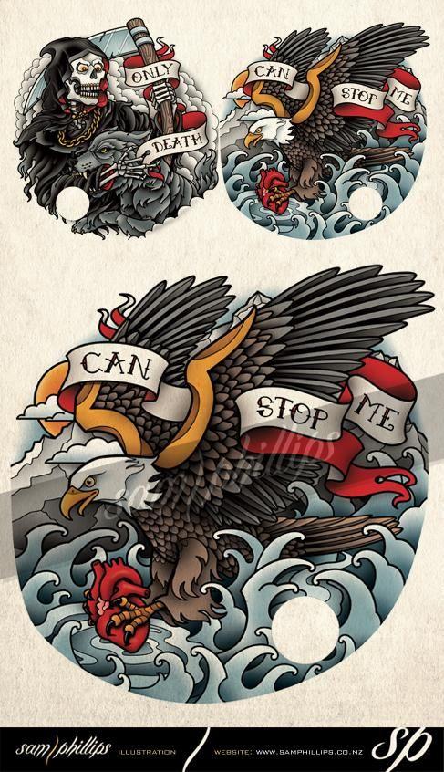 Bald Eagle Heart Tattoo - Sam Phillips - Artist . Illustrator . Graphic Designer