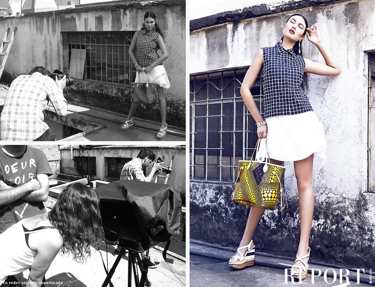 Backstage moda GEOMETRÍA URBANA - REPORT! Nº4 'Moda Verano 2013'