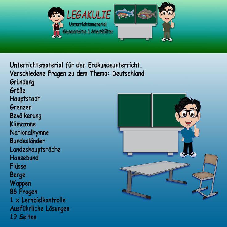 24 best Erdkunde Klassenarbeit Schulprobe Lernzielkontrolle images ...